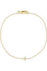 Mini Cross 18-karat gold diamond bracelet