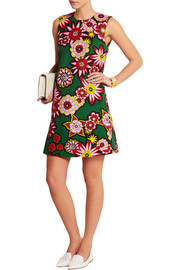 House of Holland Stamp printed cotton-canvas mini dress
