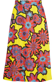 House of Holland Floral-print crepe skirt