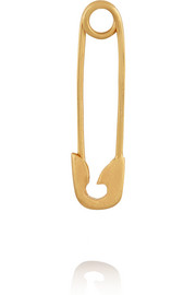 Safety Pin 10-karat gold earring