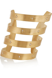 Ziggy gold-plated cubic zirconia cuff