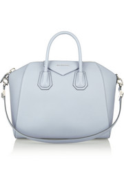 Medium Antigona bag in dusky-blue textured-leather