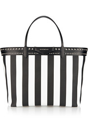 Antigona shopping bag in striped coated canvas