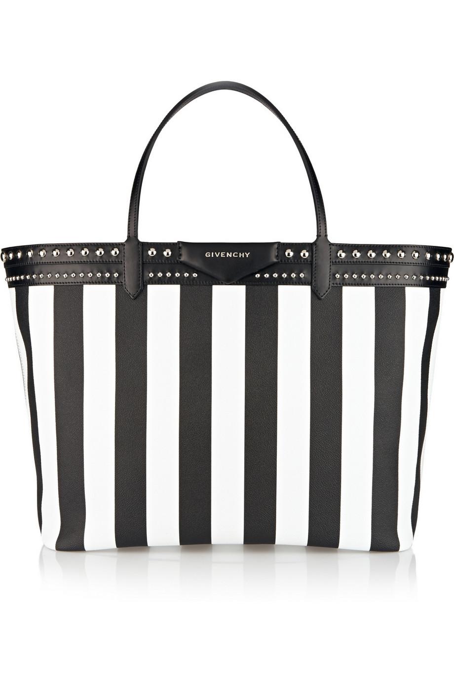 Givenchy - Cabas Antigona en toile enduite ray