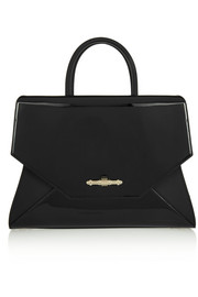 Medium Obsedia bag in black matte and patent-leather