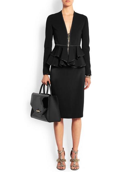 En Net Moyen Et Verni Modèle Obsedia Cuir Sac Noir Givenchy Mat HUqITT