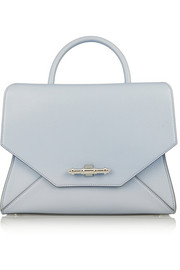 Small Obsedia bag in pale-blue textured-leather