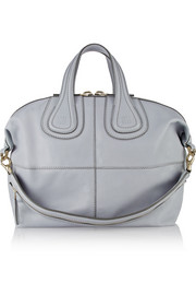 Medium Nightingale bag in gray-blue leather