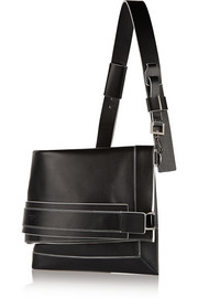 Show shoulder bag in black leather