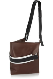 Show shoulder bag in brown nubuck