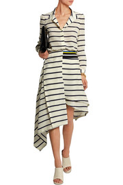 Turkana striped silk crepe de chine skirt