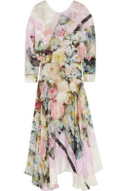 Preen by Thornton Bregazzi Cecily devoré-satin dress