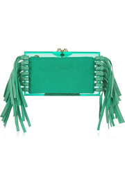 Charlotte Olympia Fringe Pandora Perspex clutch