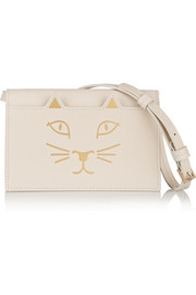 Feline leather shoulder bag