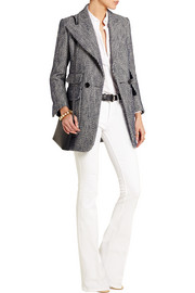 Cotton and linen-blend tweed blazer