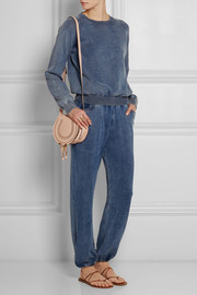 Chloé Denim-effect cotton-blend jersey track pants