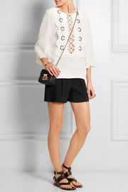 Iconic pleated cady shorts