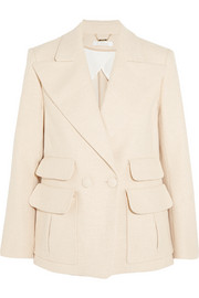 Chloé Double-breasted woven stretch-cotton blazer