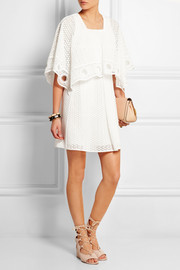 Chloé Crocheted cotton-blend mini dress