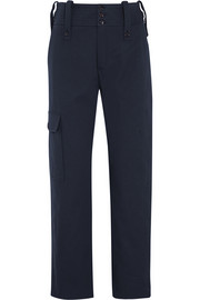 Cotton-twill track pants