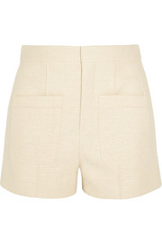 Woven stretch-cotton shorts