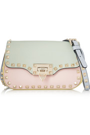 The Rockstud color-block leather shoulder bag