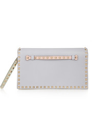 The Rockstud color-block leather clutch