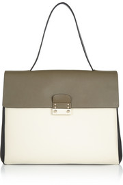 Valentino Color-block leather tote