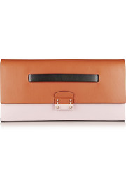 Valentino Color-block leather clutch