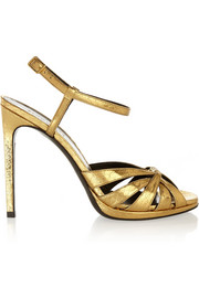 Jane metallic elaphe sandals