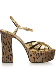 Saint Laurent Candy ratsnake platform sandals