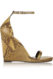 Jane python wedge sandals