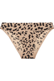 Stella McCartney Stella Smooth leopard-print stretch-jersey briefs