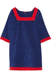 Sailor cotton-terry beach dress