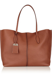 Shopping medium leather tote