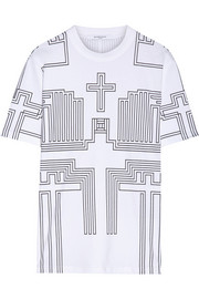T-Shirt in printed cotton-jersey