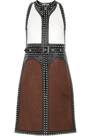 Givenchy Backless studded vest in leather and nubuck