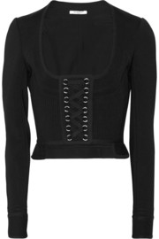 Punto Milano cropped ponte jacket with laced front