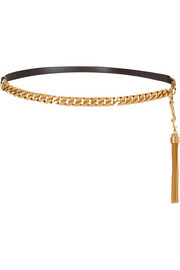 Saint Laurent Leather and chain belt