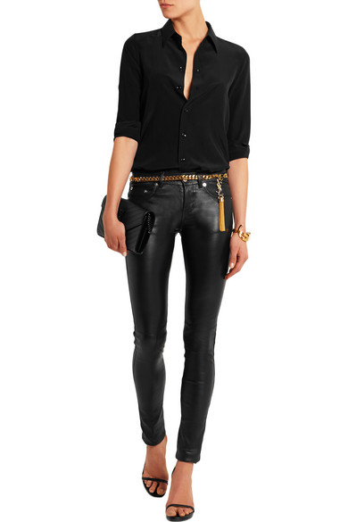 Saint Laurent Leather And Chain Belt Net A Porter Com