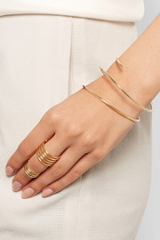 Pirouette Triadic 14-karat gold diamond cuff