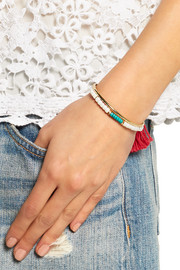 Aurélie Bidermann Sioux gold-plated, turquoise and bamboo bracelet