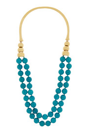 Lakotas gold-plated turquoise necklace