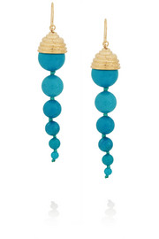 Aurélie Bidermann Lakotas gold-plated turquoise earrings