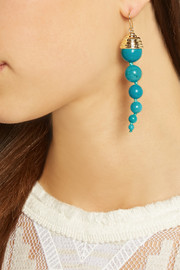 Lakotas gold-plated turquoise earrings