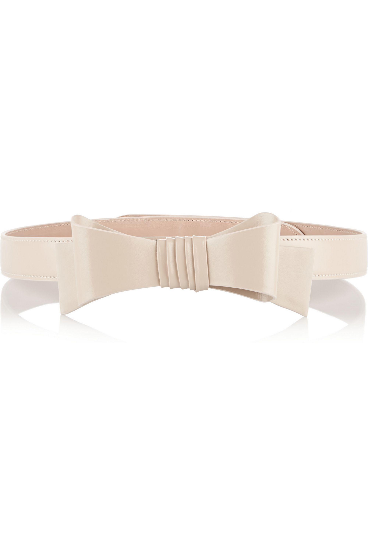 Alaïa Bow-embellished patent-leather belt