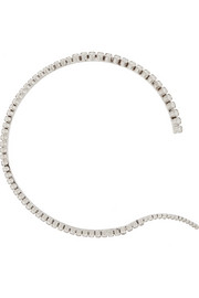 Unfinished Line rhodium-plated Swarovski crystal choker