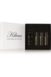 Kilian Back to Black Travel Set - Eau de Parfum and Refills - Honey, Cedarwood & Vanilla, 4 x 7.5ml