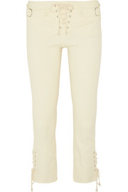 Nubia stretch linen and cotton-blend skinny pants