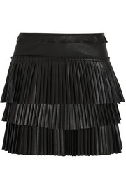 Isabel Marant Jeneth pleated leather mini skirt